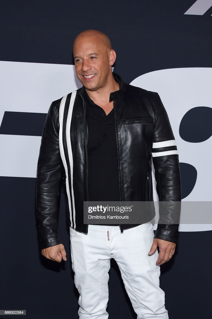 Actor Vin Diesel attends 'The Fate Of The Furious' New York Premiere at Radio City Music Hall on April 8, 2017 in New York City.