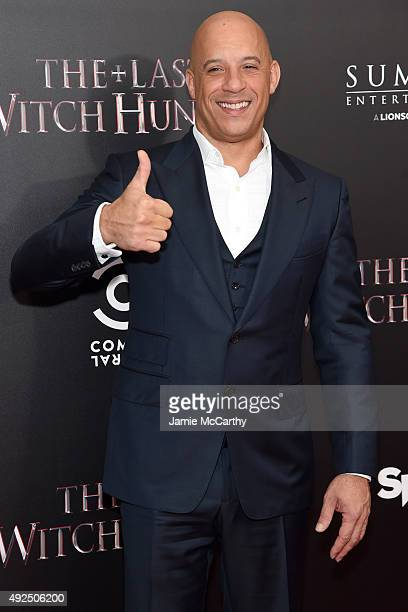 Actor Vin Diesel attends the New York premiere of 'The Last Witch Hunter' at AMC Loews Lincoln Square on October 13 2015 in New York City