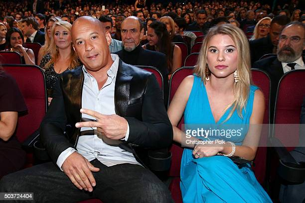 Actor Vin Diesel attends the People's Choice Awards 2016 at Microsoft Theater on January 6 2016 in Los Angeles California