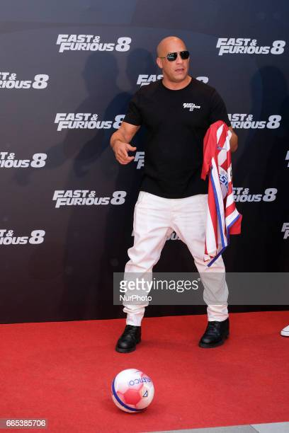 Actor Vin Diesel attends the photocall of FAST amp FURIOUS 8 in Madrid Spain April 6 2017