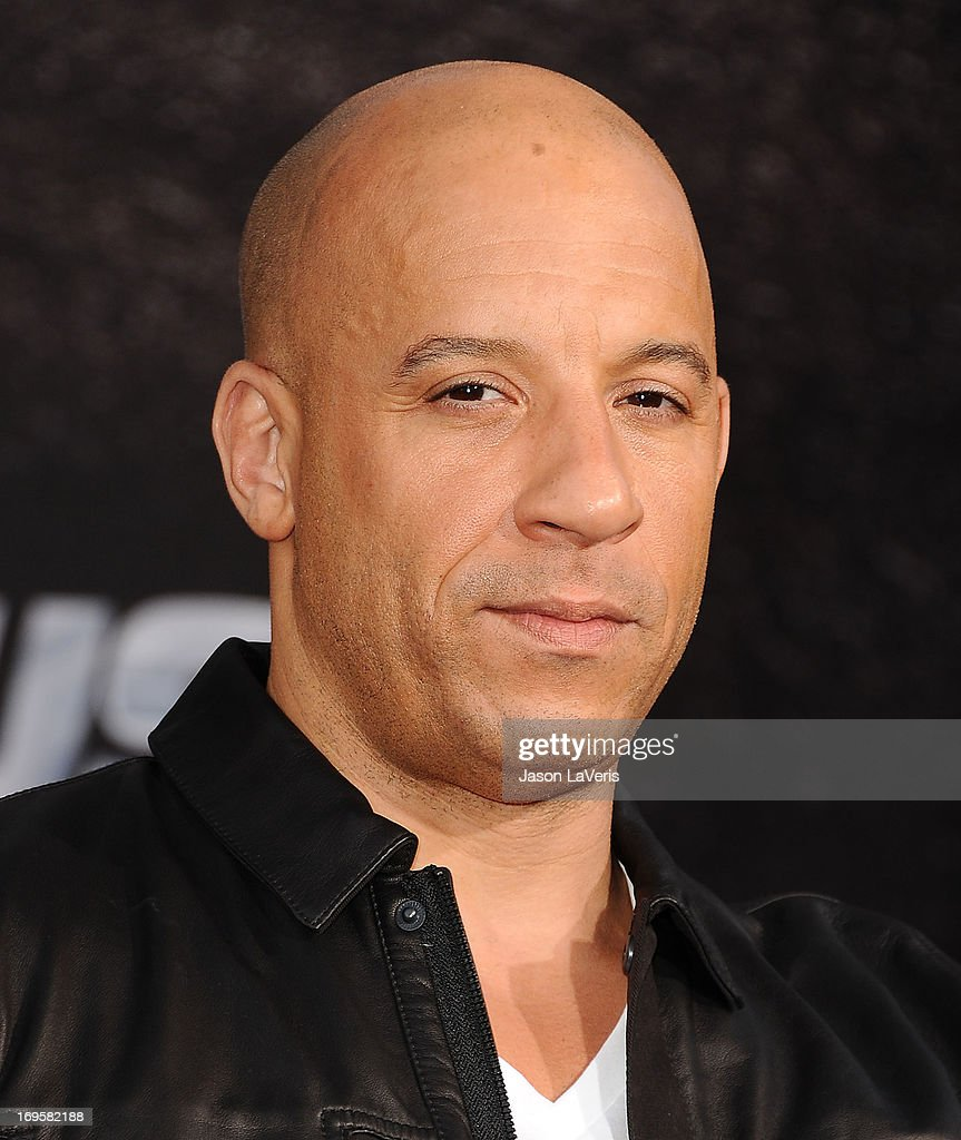 Actor Vin Diesel attends the premiere of 'Fast & Furious 6' at Universal CityWalk on May 21, 2013 in Universal City, California.