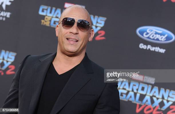 Actor Vin Diesel attends the premiere of 'Guardians of the Galaxy Vol 2' at Dolby Theatre on April 19 2017 in Hollywood California