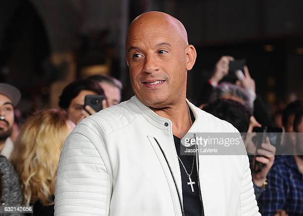 Actor Vin Diesel attends the premiere of 'xXx Return of Xander Cage' at TCL Chinese Theatre IMAX on January 19 2017 in Hollywood California