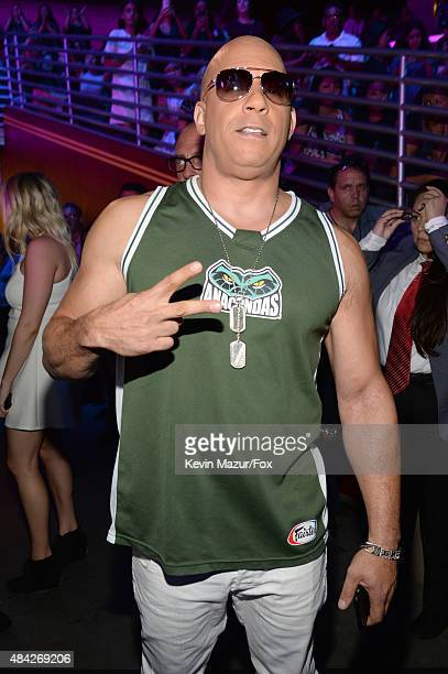 Actor Vin Diesel attends the Teen Choice Awards 2015 at the USC Galen Center on August 16 2015 in Los Angeles California