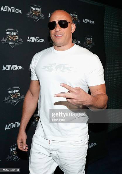 Actor Vin Diesel attends The Ultimate Fan Experience Call Of Duty XP 2016 presented by Activision at The Forum on September 3 2016 in Inglewood...