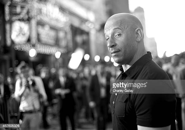 "Actor Vin Diesel attends The World Premiere of Marvel's epic space adventure ""Guardians of the Galaxy"" directed by James Gunn and presented in Dolby..."