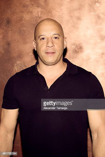 Actor Vin Diesel is photographed of the set of Univisions morning show Despierta America promoting his film The Last Witch Hunter on October 7 2015...
