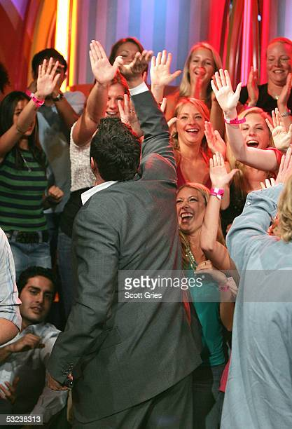 Actor Vince Vaughn appears during MTV's Total Request Live at the MTV Times Square Studios July 14 2005 in New York City