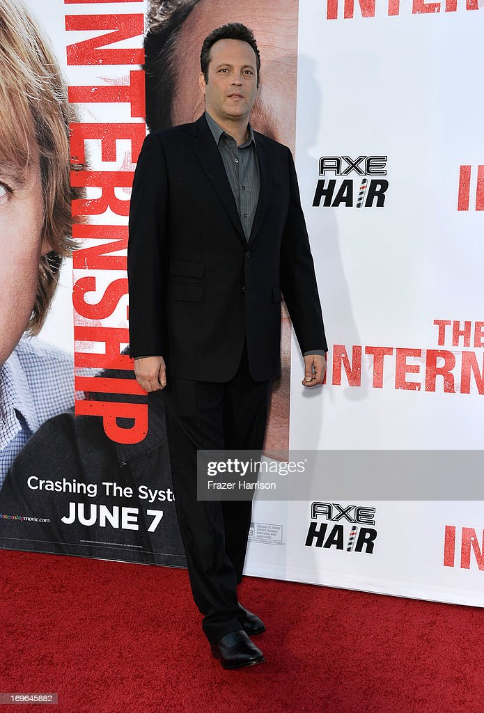 Actor Vince Vaughn arrives at the Premiere Of Twentieth Century Fox's 'The Internship' on May 29, 2013 in Westwood, California.