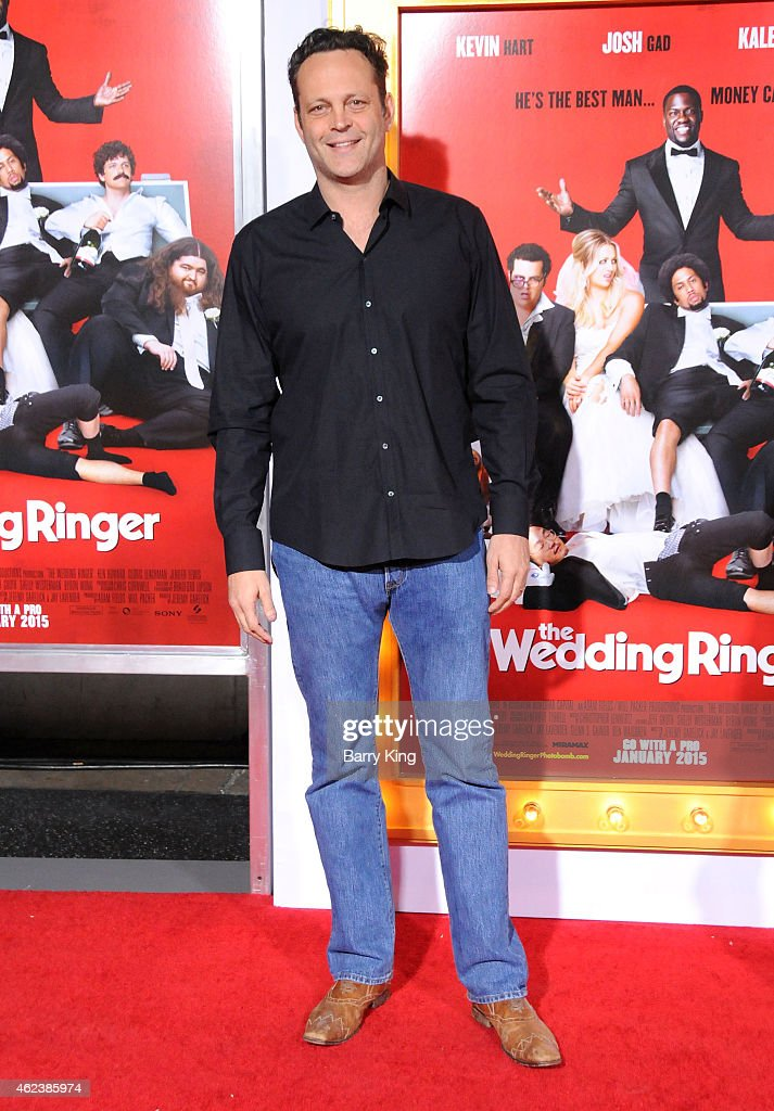 Actor Vince Vaughn Attends The Premiere Of The Wedding Ringer At Tcl Picture