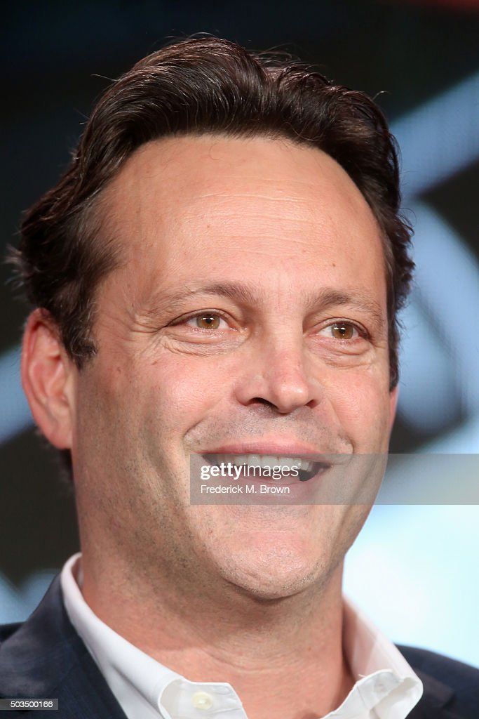 Actor Vince Vaughn, executive producer, 'The '85 Bears', speaks during the 'ESPN Films 30 for 30' panel as part of the ESPN portion of This is Cable 2016 TCA Press Tour at Langham Hotel on January 5, 2016 in Pasadena, California.