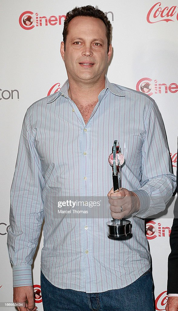 Actor <a gi-track='captionPersonalityLinkClicked' href=/galleries/search?phrase=Vince+Vaughn&family=editorial&specificpeople=182440 ng-click='$event.stopPropagation()'>Vince Vaughn</a>, recipient of the Comedy Duo of the Year Award, arrives at the CinemaCon Big Screen Achievement Awards at the Pure Nightclub at Caesars Palace during CinemaCon 2013 on April 18, 2013 in Las Vegas, Nevada.