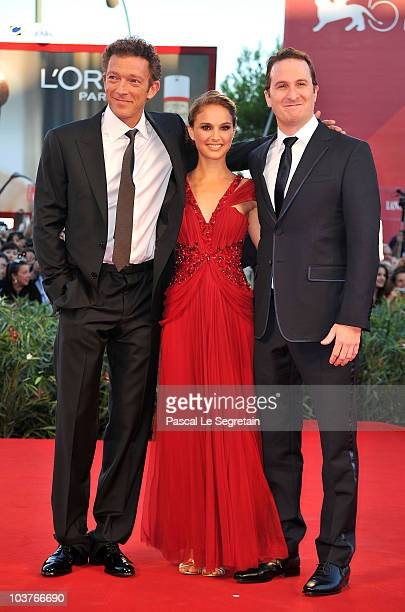 Actor Vincent Cassel Actress Natalie Portman and Director Darren Aronofski attend the Opening Ceremony and 'Black Swan' premiere during the 67th...