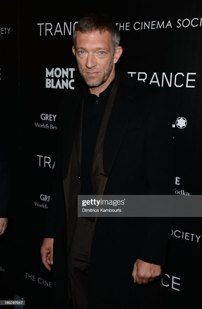 Actor Vincent Cassel attends Fox Searchlight Pictures' premiere of 'Trance' hosted by the Cinema Society & Montblanc at SVA Theater on April 2, 2013 in New York City.