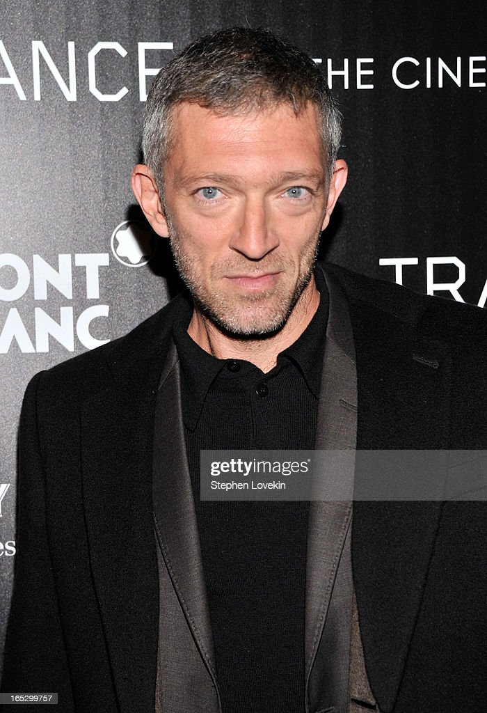 Actor <a gi-track='captionPersonalityLinkClicked' href=/galleries/search?phrase=Vincent+Cassel&family=editorial&specificpeople=220849 ng-click='$event.stopPropagation()'>Vincent Cassel</a> attends the premiere of Fox Searchlight Pictures' 'Trance' hosted by The Cinema Society & Montblanc at SVA Theater on April 2, 2013 in New York City.