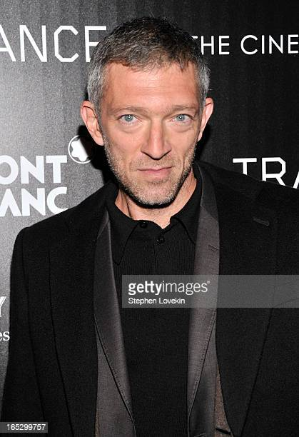 Actor Vincent Cassel attends the premiere of Fox Searchlight Pictures' 'Trance' hosted by The Cinema Society Montblanc at SVA Theater on April 2 2013...