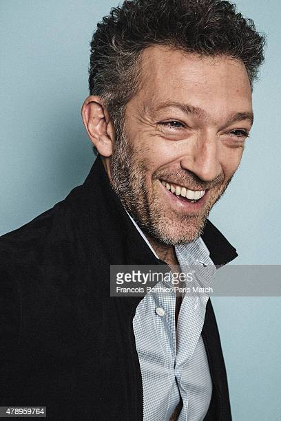 Actor Vincent Cassel is photographed for Paris Match on June 17 2015 in Paris France