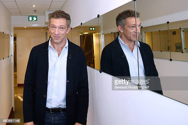 Actor Vincent Cassel presents the Movie 'Mon Roi' during the 'Vivement Dimanche' French TV Show at Pavillon Gabriel on October 14 2015 in Paris France