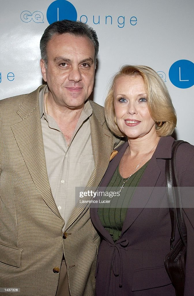Actor Vincent Curatola and his wife Maureen arrive at the launch of the book 'Who's Sorry Now' by Joe Pantoliano at the GQ Lounge September 28, 2002, in New York City.