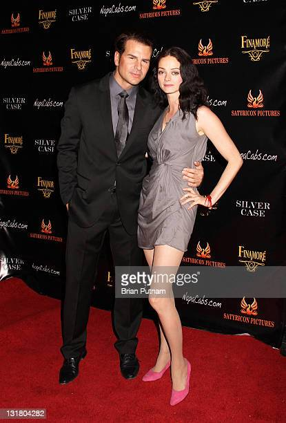 Actor Vincent De Paul actress/executive producer Claire Falconer attend the Wrap Party for the film 'Silver Case' on January 15 2011 in West...