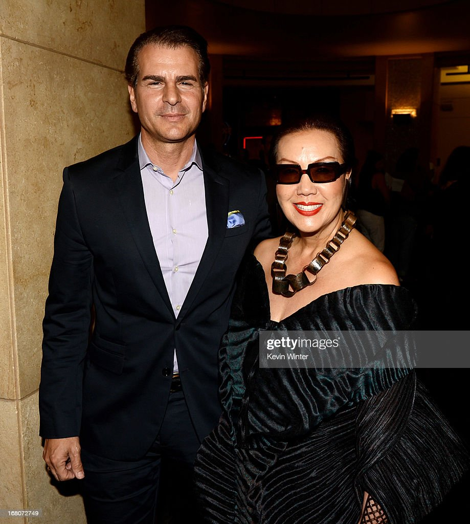 Actor Vincent De Paul (L) and designer Sue Wong arrive to see comedienne Kathy Griffin perform at the Dolby Theatre on May 4, 2013 in Los Angeles, California.