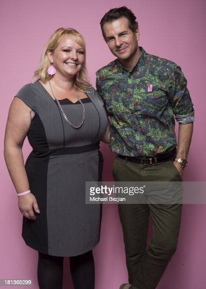 Actor Vincent De Paul poses for a portrait with Liana Lopez Awareness Coordiantor of the Breast Cancer Society Inc at the Mark Kearney Group 'Iced...
