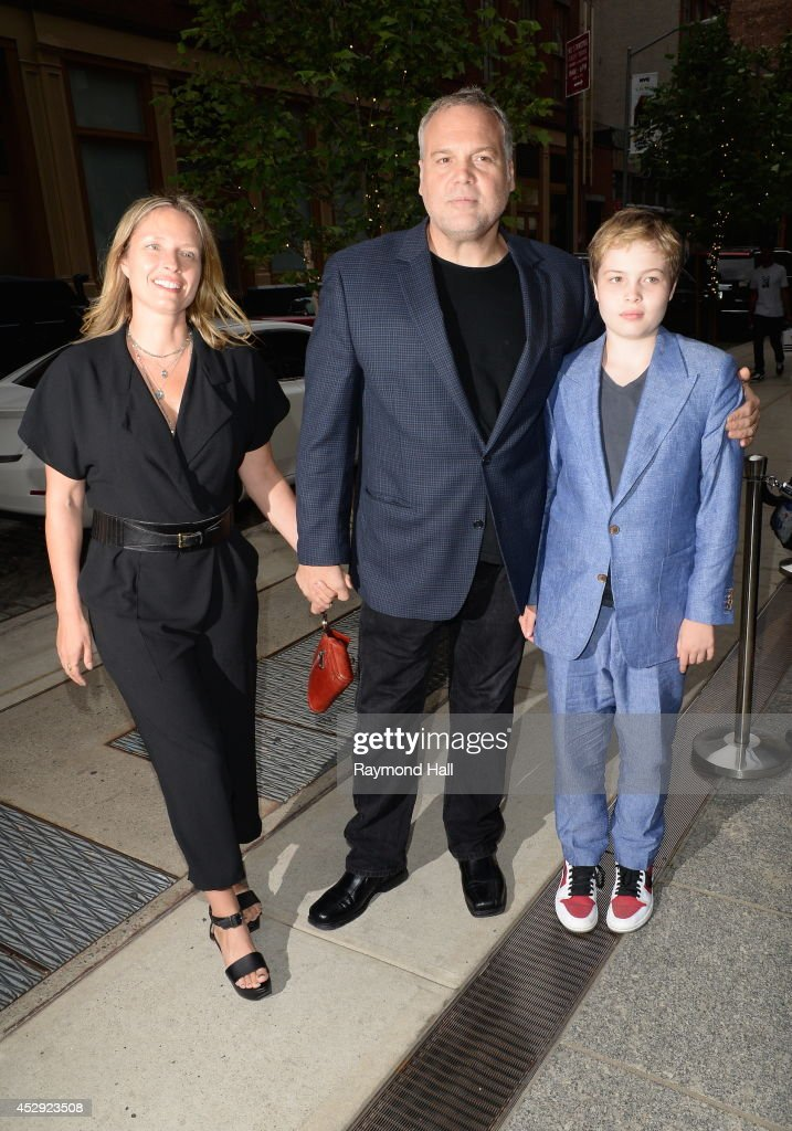 Actor <a gi-track='captionPersonalityLinkClicked' href=/galleries/search?phrase=Vincent+D%27Onofrio&family=editorial&specificpeople=543164 ng-click='$event.stopPropagation()'>Vincent D'Onofrio</a> and <a gi-track='captionPersonalityLinkClicked' href=/galleries/search?phrase=George+Meyer&family=editorial&specificpeople=2162990 ng-click='$event.stopPropagation()'>George Meyer</a> are seen in Soho on July 29, 2014 in New York City.