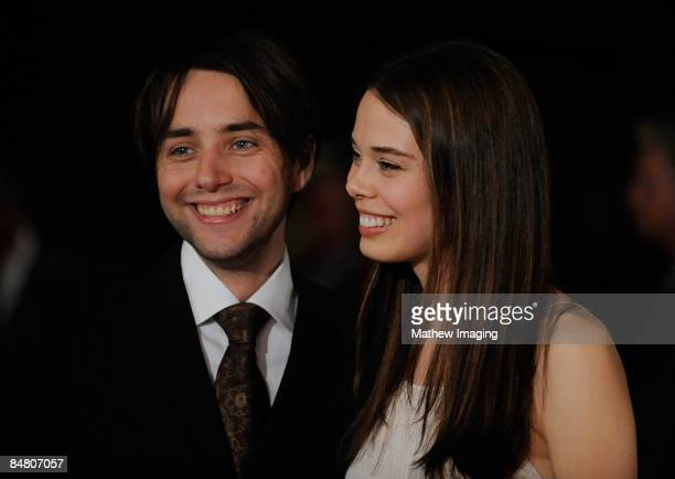 Actor Vincent Kartheiser and actress Shanna Collins arrive at the 13 Annual Art Directors Guild Awards held at the Beverly Hilton Hotel on February...