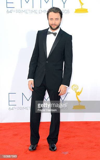 Actor Vincent Kartheiser arrives at the 64th Annual Primetime Emmy Awards at Nokia Theatre LA Live on September 23 2012 in Los Angeles California