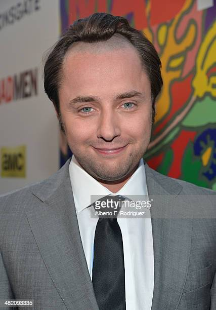 Actor Vincent Kartheiser attends the AMC celebration of the 'Mad Men' season 7 premiere at ArcLight Cinemas on April 2 2014 in Hollywood California