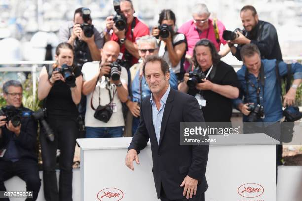 Actor Vincent Lindon attends the 'Rodin' photocall during the 70th annual Cannes Film Festival at Palais des Festivals on May 24 2017 in Cannes France