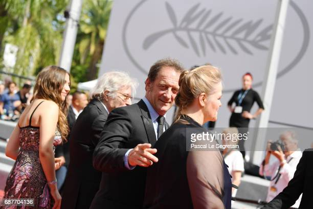 Actor Vincent Lindon attends the 'Rodin' screening during the 70th annual Cannes Film Festival at Palais des Festivals on May 24 2017 in Cannes France