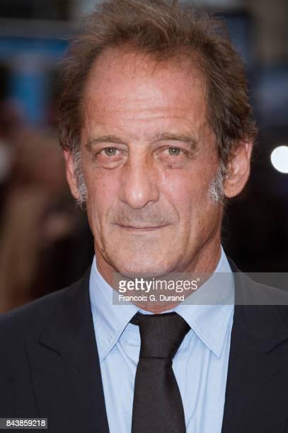 Actor Vincent Lindon poses on the red carpet before the screening of the movie 'The Zookeepr's Wife' during the 43rd Deauville American Film Festival...