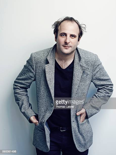 Actor Vincent Macaigne is photographed for Self Assignment on May 17 2015 in Cannes France