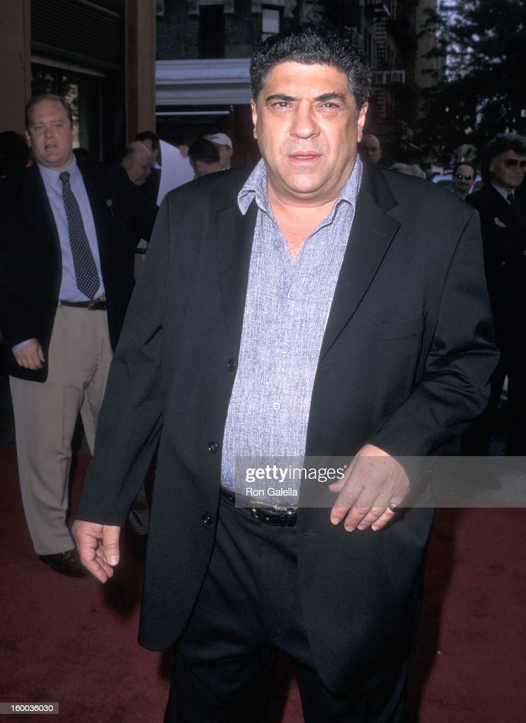 Actor Vincent Pastore attends the 'Made' New York City Premiere on July 10, 2001 at the Village East Cinemas in New York City.