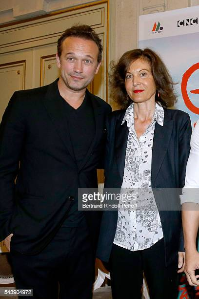 Actor Vincent Perez and Director Anne Fontaine attend 6th Chinese Film Festival Press Conference at Hotel Meurice on June 30 2016 in Paris France