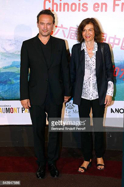 Actor Vincent Perez and Director Anne Fontaine attend the 6th Chinese Film Festival Photocall at Cinema Gaumont Marignan on June 30 2016 in Paris...