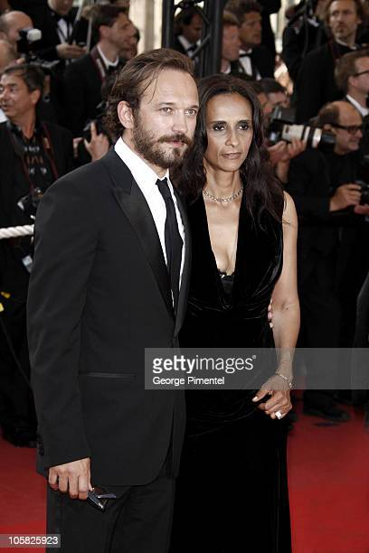 Actor Vincent Perez and guest attend the 'Inglourious Basterds' Premiere at the Grand Theatre Lumiere during the 62nd Annual Cannes Film Festival on...
