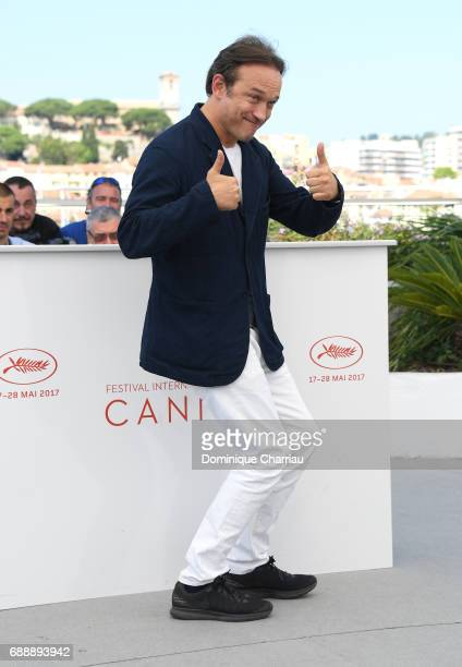 Actor Vincent Perez attends the 'Based On A True Story' photocall during the 70th annual Cannes Film Festival at Palais des Festivals on May 27 2017...