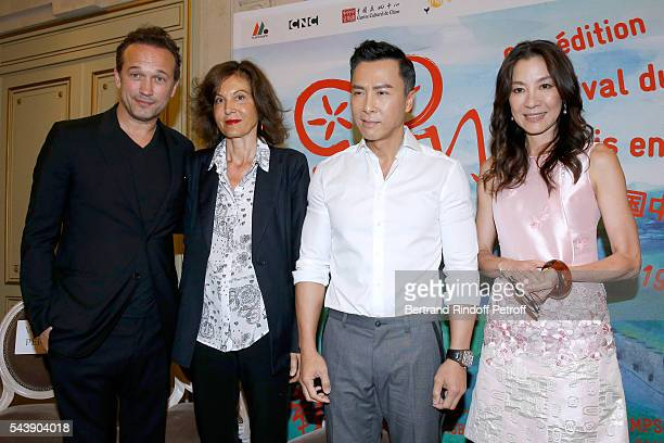 Actor Vincent Perez Director Anne Fontaine actors Donnie Yen and Michelle Yeoh attend 6th Chinese Film Festival Press Conference at Hotel Meurice on...
