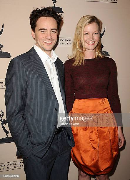 Actor Vincent Piazza and actress Gretchen Mol attend an evening with 'Boardwalk Empire' at Leonard H Goldenson Theatre on April 26 2012 in North...