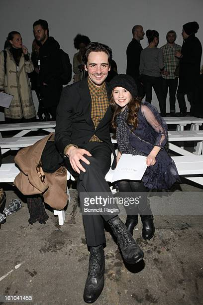 Actor Vincent Piazza and niece Venessa Piazza attend Billy Reid fashion show during Fall 2013 MercedesBenz Fashion Week at Eyebeam on February 8 2013...