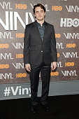 Actor Vincent Piazza attends the New York premiere of 'Vinyl' at Ziegfeld Theatre on January 15 2016 in New York City