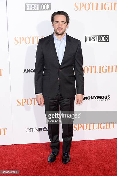 Actor Vincent Piazza attends the 'Spotlight' New York premiere at Ziegfeld Theater on October 27 2015 in New York City