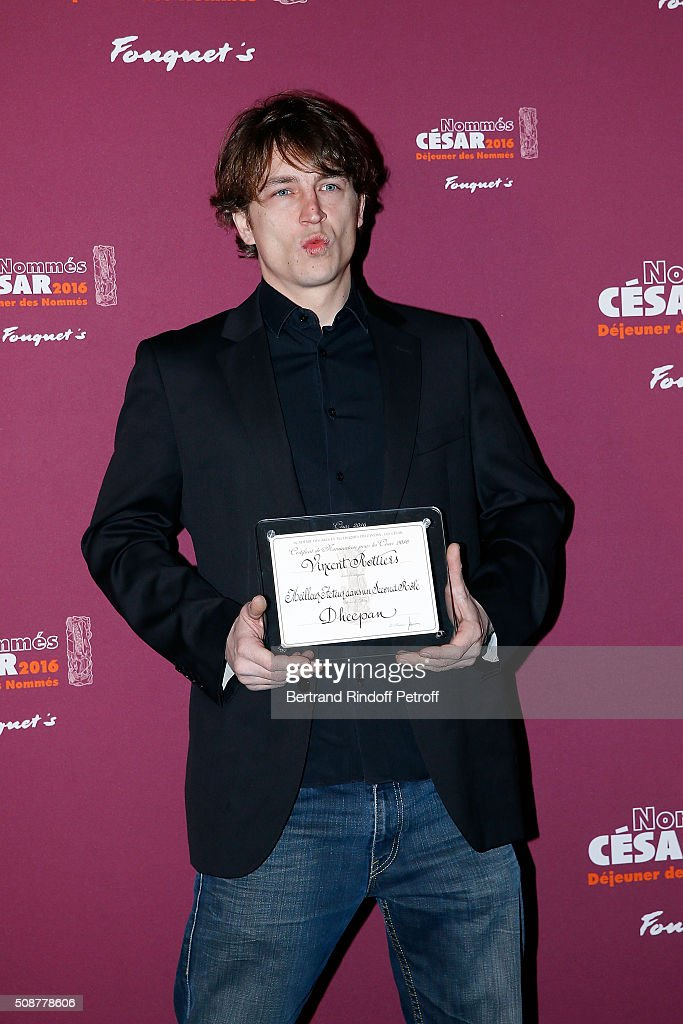 Actor Vincent Rottiers attends 'Cesar 2016 Nominee Luncheon' at Le Fouquet's on February 6, 2016 in Paris, France.