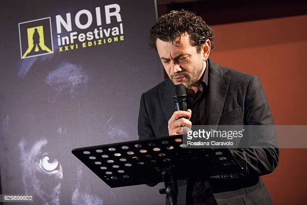 Actor Vinicio Marchioni attends the reading for the novel 'Pane Per I Bastardi Di Pizzofalcone' by Maurizio De Giovanni at the Noir In Festival on...