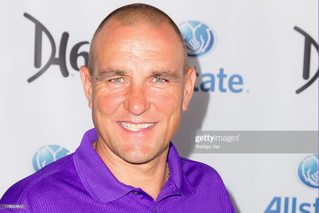 Actor <a gi-track='captionPersonalityLinkClicked' href=/galleries/search?phrase=Vinnie+Jones&family=editorial&specificpeople=161108 ng-click='$event.stopPropagation()'>Vinnie Jones</a> attends the 2nd Annual Dennis Haysbert Humanitarian Foundation Celebrity Golf Classic at Lakeside Golf Club on August 26, 2013 in Burbank, California.