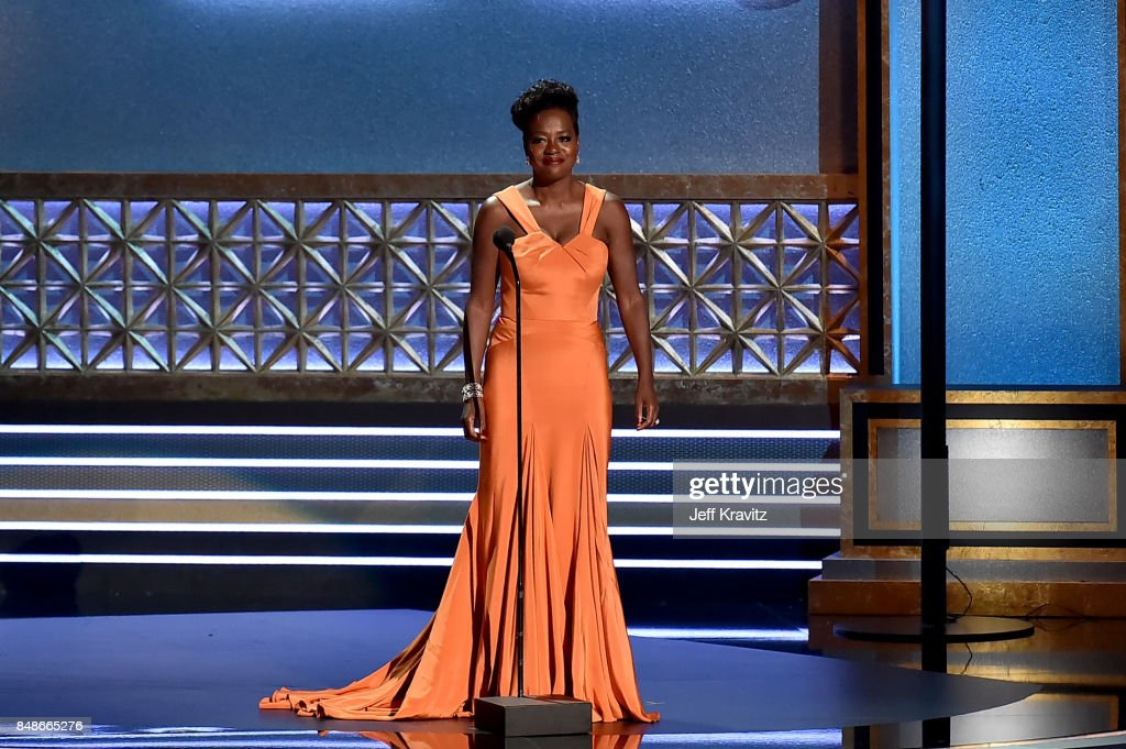 Actor Viola Davis speaks onstage during the 69th Annual Primetime Emmy Awards at Microsoft Theater on September 17, 2017 in Los Angeles, California.