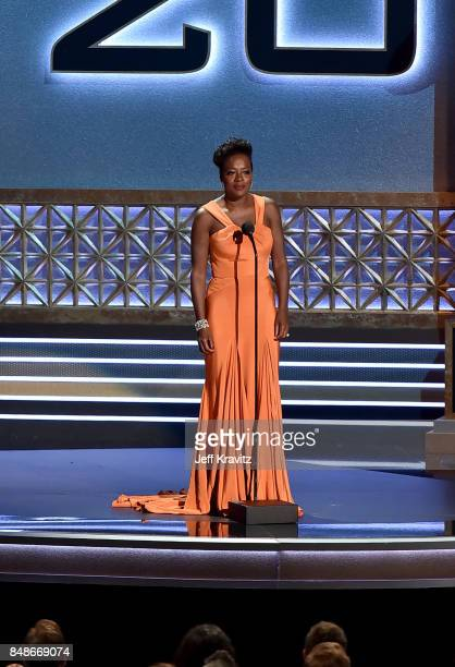 Actor Viola Davis speaks onstage during the 69th Annual Primetime Emmy Awards at Microsoft Theater on September 17 2017 in Los Angeles California