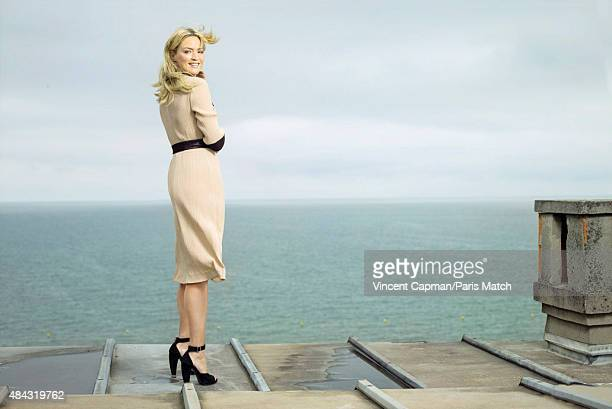 Actor Virginie Efira is photographed for Paris Match on June 14 2015 in Cabourg France